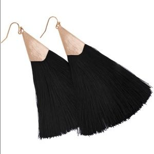 Jewelry - ❤️Black tassel earrings ❤️